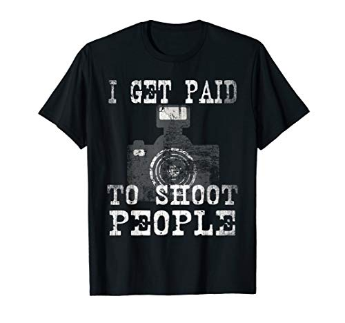 Vintage Professional Photographer Official Work Team On Job T-Shirt (Best Pro Camcorder For Weddings)