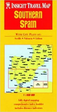 Travel Map Of Spain.Southern Spain Insight Travel Map Amazon Co Uk 9789812345424 Books