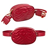 xhorizon LL1 Women Fashion Quilted Leather Fanny Pack Classy Wasit Bag