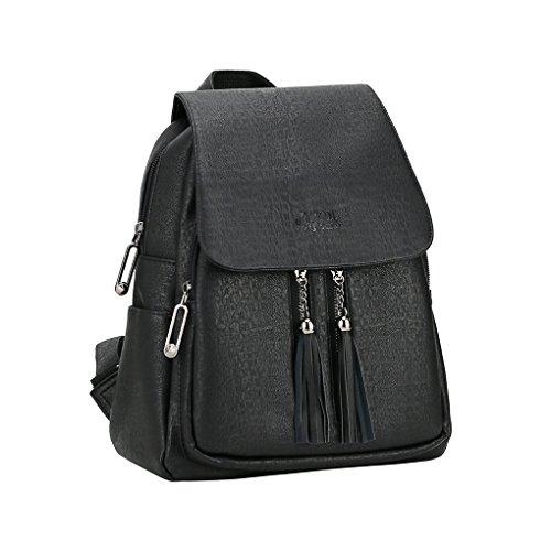 Pu Backpack Women, Black Fashion Backpack Purse Guess for Teen Girls, School, Travel, Lightweight, - Guess Sale