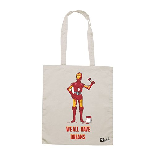 Borsa Iron Man C3Po Star Wars - Panna - Film by Mush Dress Your Style