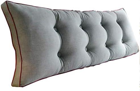 ベッドサイド枕、長い枕付きのダブルソフトケース、ホームオフィスのための枕を寝て、洗える綿6色、5つのサイズ(色:サイズ120センチ)
