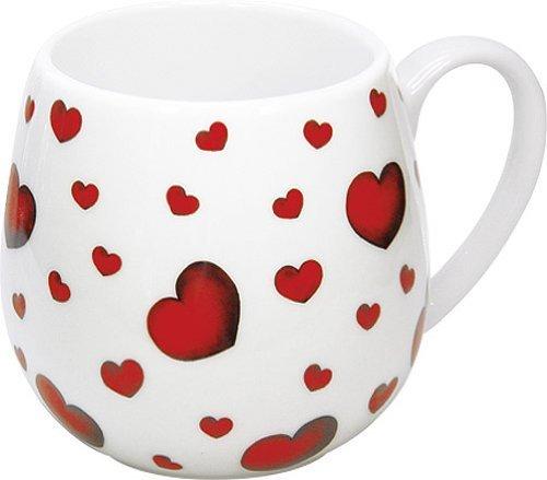 Konitz 14-Ounce Little Hearts Snuggle Mugs, Assorted, Set of 4 by Konitz