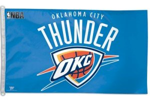 NBA Oklahoma City Thunder WCR42306010 Team Flag, 3' x 5'