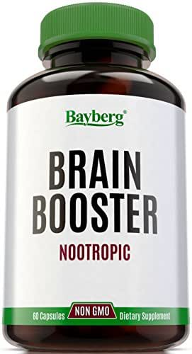 Natural Nootropic & Brain Booster Supplement. Cognitive & Neuronal Enhancer for Memory, Focus & Clarity. Proprietary Blend for Mental Performance with Vitamins, Antioxidants, L-Glutamine, DHA & DMAE