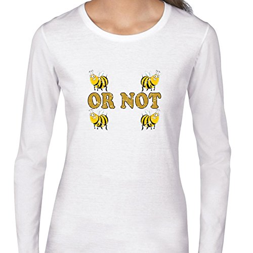 (Hollywood Thread Two Bee or Not Two Bee Graphic - Shakespeare Women's Long Sleeve T-Shirt)