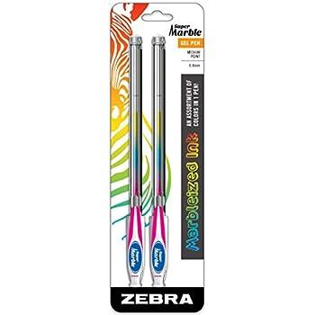 Amazon Com Zebra Super Marble Gel Ink Pen 0 8mm