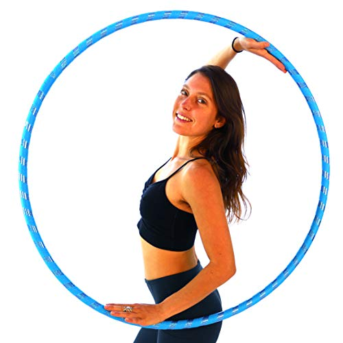 "Weighted Hula Hoop for Exercise. Your Choice of Color. Made in The USA. (Sky Blue, Large - 40"" Diameter)"