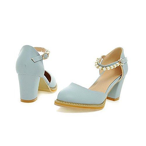 Balamasa Damer Pärla Pekade-toe Mjuk Material Pumpar-shoes Blå