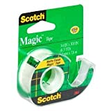 Scotch Magic Tape with Dispenser, 3/4'' x 300'' Case of 144
