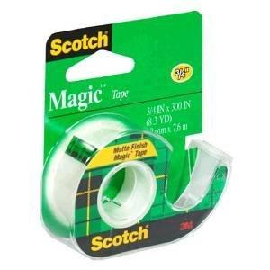 Scotch Magic Tape with Dispenser, 3/4'' x 300'' Case of 144