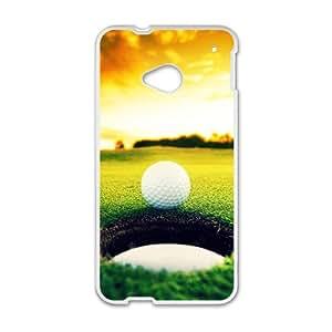 Sunshine Golfball Custom Protective Hard Phone Cae For HTC One M7