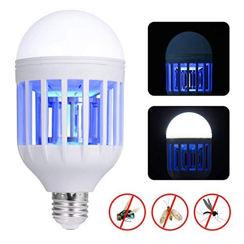 Ucharm Bug Zapper Outdoor/Indoor, 110V Mosquito Zapper for E26/E27 Base,Insect Killer Lamp for Home, Porch Patio,