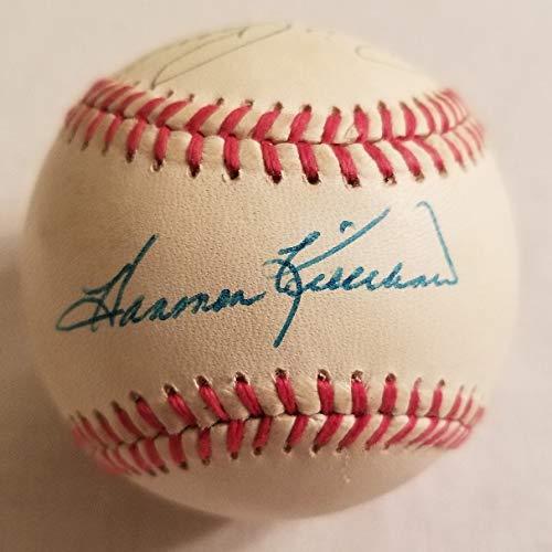 (Whitey Ford, Catfish Hunter, Harmon Killebrew & Billy Pierce Signed AL Baseball)