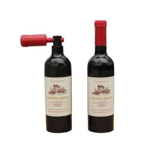 The Home Fusion Company Wine Bottle Opener Corkscrew Bottle Shaped Cork Screw Bar Present Novelty Gift