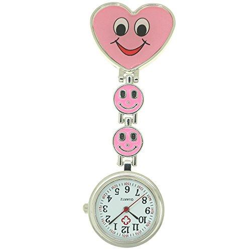 Nurse Watches for Men Women Heart Designer Nurse Fob Clip On Brooch Hanging Pocket (Designer Pocket Watch)