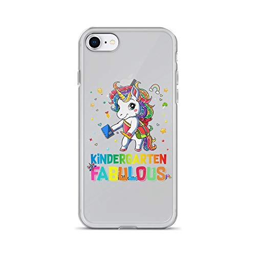 iPhone 7/8 Pure Clear Case Cases Cover Kindergarten Fabulous Back to School Cute Unicorn -