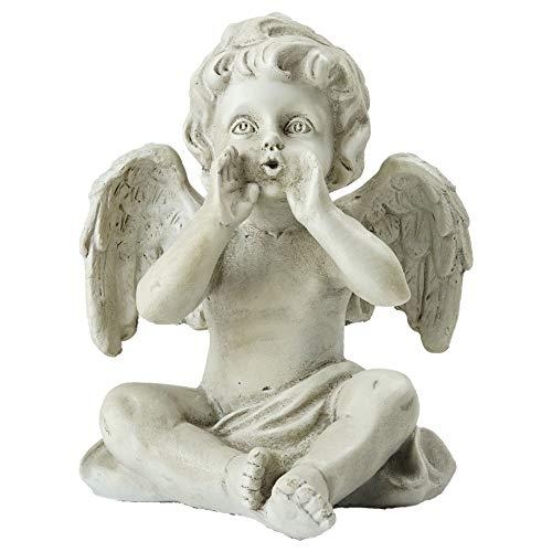 Northlight Sitting Decorative Cherub Angel Outdoor Garden Statue, 6.5