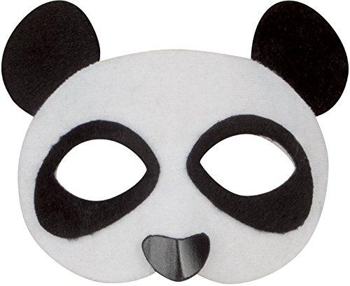 Loftus International Loftus Adorable Fuzzy Panda Bear Half Mask, White Black, One Size Novelty Item -