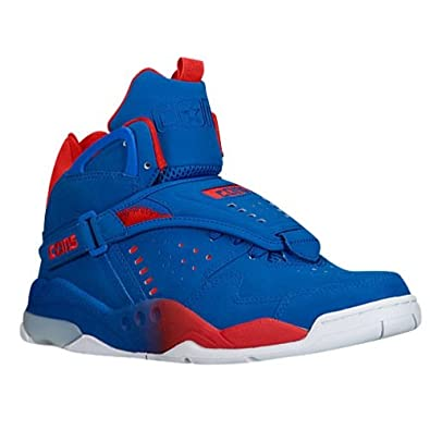 9e25f2e2ecbab2 Image Unavailable. Image not available for. Color  Converse Men s Aero Jam  Mid Blue Red White Basketball Shoes Size 12