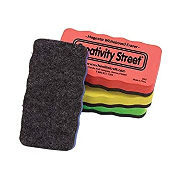 AC2083 Chenille Kraft Co Creativity Street Magnetic Chalk and Whiteboard Erasers 4-Pack