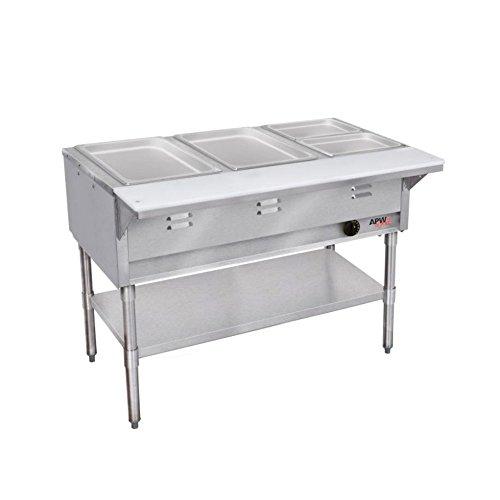APW Wyott WGST-5-LP LP Gas Champion Hot Well Wet Bath Steam Table - Gas Steam Table 5 Wells