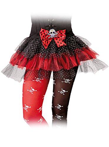 Svart Flekket Damene Halloween Rød Pirat Og Tutu XFE8F