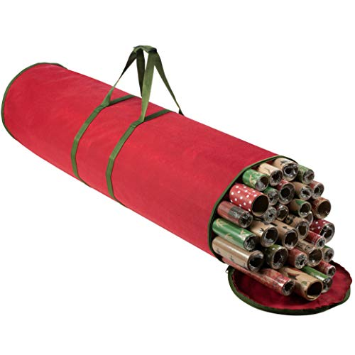 Christmas Wrapping Paper Storage Bag - Fits 14 to 20 Standard Rolls Upto 40