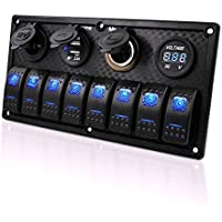 4 GANG 12v WATER RESISTANT MARINE SWITCH PANEL boat yacht fishing