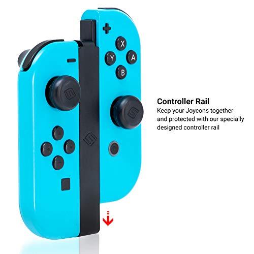 Satisfye – ZenGrip Pro Elite Bundle, Accessories Compatible with Nintendo Switch - The Bundle includes: Grip, Elite Case and a Low Profile USB A-C Cable. BONUS: 2 Thumbsticks+1 JoyCon Rail