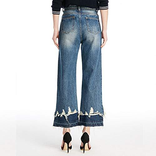 Jeans Xs Larghe E Alta Deep Blue Gambe Vita S Mvguihzpo Donna Larga Gambe Ampie Gamba A axpgad6