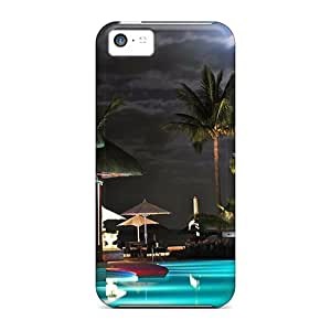 Protection Cases For Iphone 5c / Cases Covers For Iphone(swimming Pool Resort)