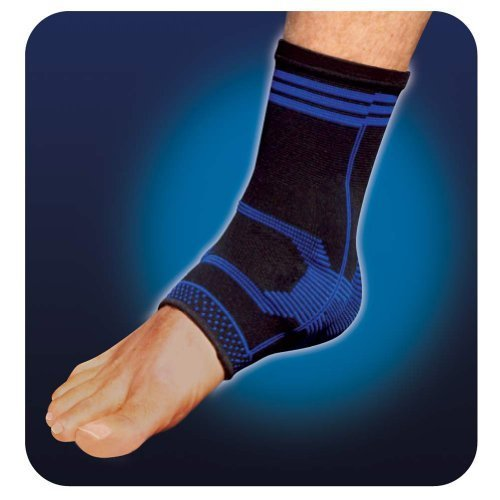Pro-Tec Athletics Gel-Force Ankle Support, Color:Blue, S (Protec Gel)