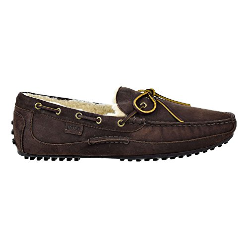 Polo Ralph Lauren Mens Wyndings-s Loafer Dark Charcoal / Natural