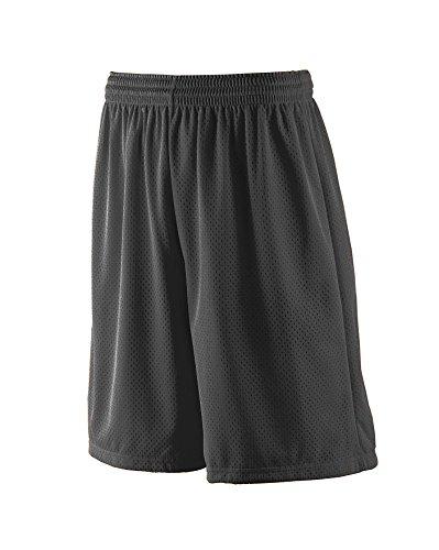 Augusta Sportswear MEN'S LONG TRICOT MESH SHORT/TRICOT LINED 3XL Black