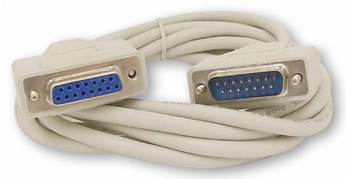 Your Cable Store 10 Foot DB15 15 Pin Serial Extension Cable ()