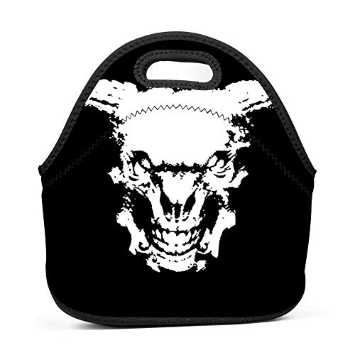 3980824adcdc dreambest The White Skeleton of The Ox's Head Restores Ancient Times  Insulated Neoprene Lunch Bag for Unisex Lunch Bag Handbag for Work and  School