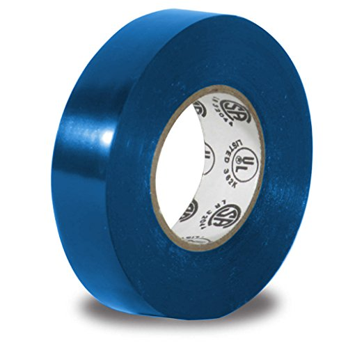 Vinyl Electrical Tape, 3/4-Inch x 66 Ft Roll, UL Listed, Blue (1 Pack)