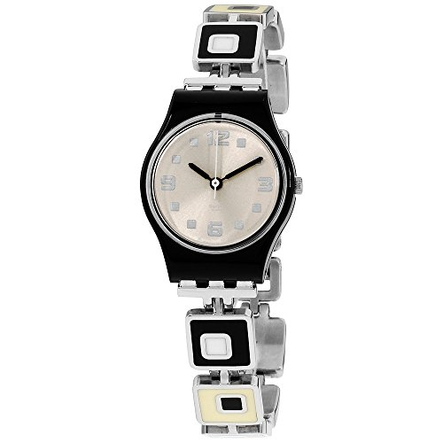 Swatch Ladies Chessboard Silver Dial Bracelet Watch -