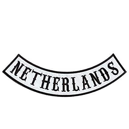 Amazon com: Netherlands Biker Patches Top Rocker Patches