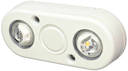 All-Pro REV235FW Revolve LED Twin Head Flood Light, 2100 lm, White 3500K -
