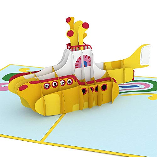 Price comparison product image Lovepop Beatles Yellow Submarine Pop Up Card,  3D Card,  Birthday Card,  Pop Up Greeting Card,  Father's Day Card,  Beatles Card