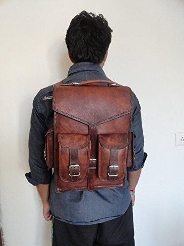 SKH16 Vintage Leather Macbook Briefcase 2-in-1 Messenger Bag
