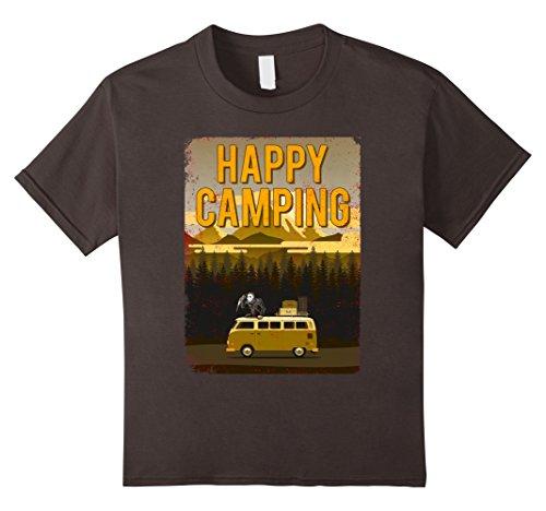 Kids Vintage Happy Camping T-shirt Jason The Camper Murderer 8 Asphalt