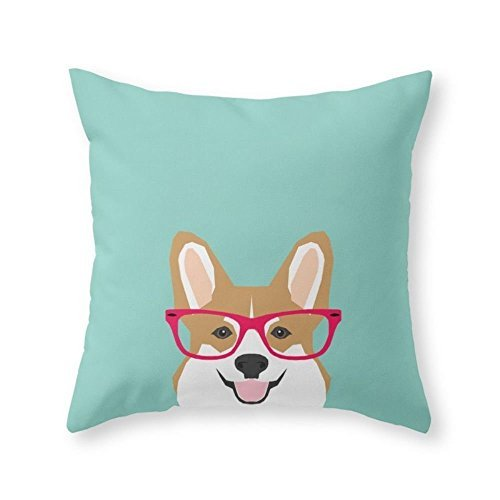 - Sea Girl Soft Teagan Glasses Corgi Cute Puppy Welsh Corgi Gifts For Dog Lovers And Pet Owners Love Corgi Puppies Throw Pillow Indoor Cover Pillow Case For Your Home(18in x 18in)