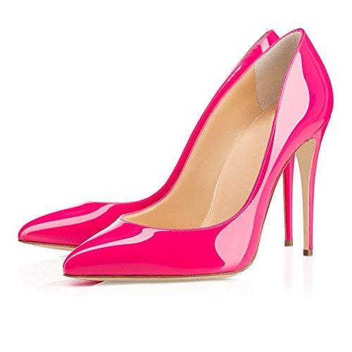EDEFS Aiguille Heel Rose High Talon Escarpins Sexy Femme Haut Fermé Bout Stileoo Chaussures rnTrWAHq