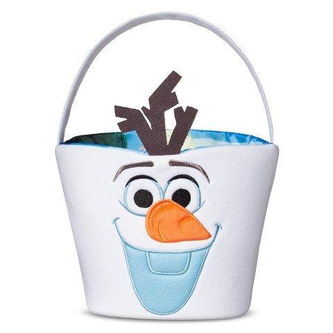 Disney Frozen Olaf Reversible Easter Halloween Candy Basket Tote (Frozen Basket)