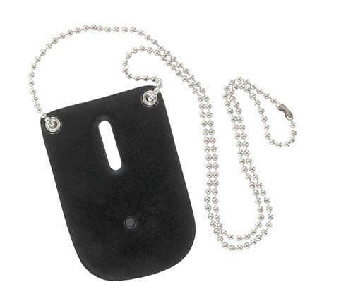 Safariland Badge Holder for Police, Sheriff, Security with Neck Chain Black 7352-2]()