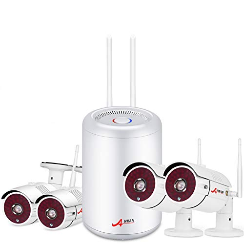 【New 2560P】ANRAN 5MP Wireless CCTV Camera System, 4CH 2560P NVR 2K Outdoor/Indoor WiFi Home Security Surveillance Cameras Night Vision, Motion Detection, 2TB Hard Drive