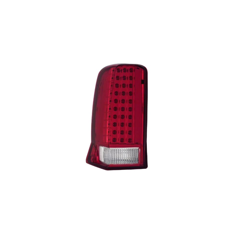 Cadillac Escalade Red/Clear With Lip LED Tail Light Assembly   (Sold in Pairs)